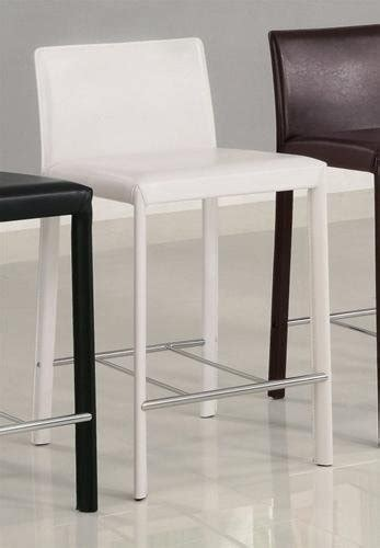 White Leather Counter Height Stools Gt Cheap Set Of 2 24 H Counter Height Stools White