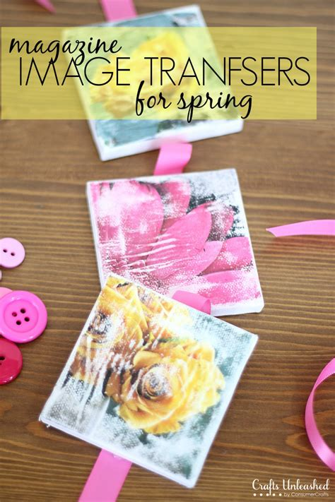 diy craft magazine image transfer to canvas step by step crafts unleashed