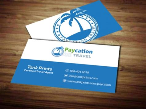 Travel Business Card Template With Wavy Designs by Paycation Business Card 5 Tank Prints