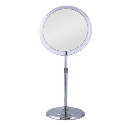 pedestal vanity mirror zadro single sided pedestal vanity mirror chrome finish