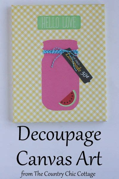 Make Your Own Decoupage Paper - 10 ideas about decoupage canvas on mixed
