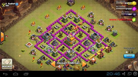 layout coc paling kuat th 7 pertahanan war basse th 7 kuat tips android