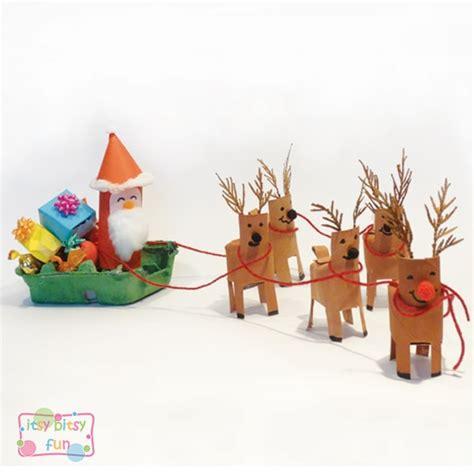 diy paper sleigh kids santa sleigh craft itsy bitsy
