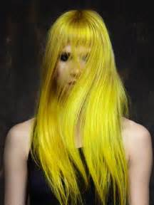 yellow hair color bright yellow neon hair awesome hair
