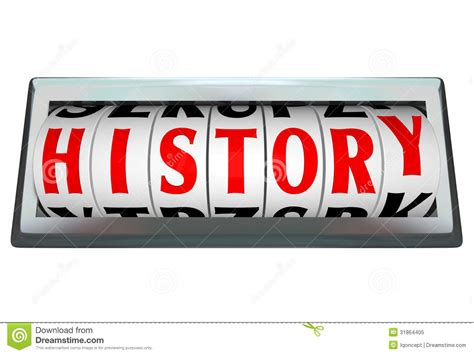 origin of the word history word in odomoter bar shows passage of time