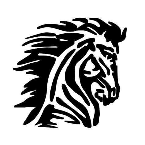 mustang clipart mustang logo blk clip at clker vector clip