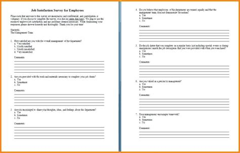employee satisfaction survey template word gallery of employee benefits survey template employee
