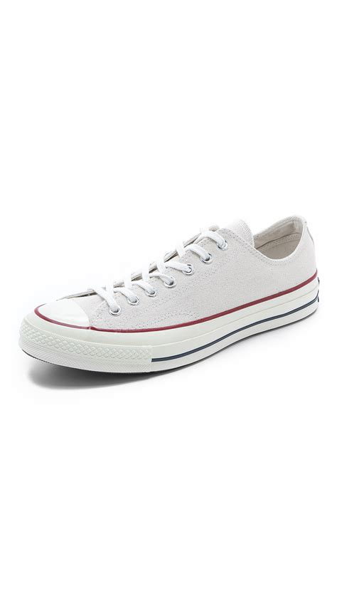 converse silver sneakers converse chuck all 70s sneakers in silver for