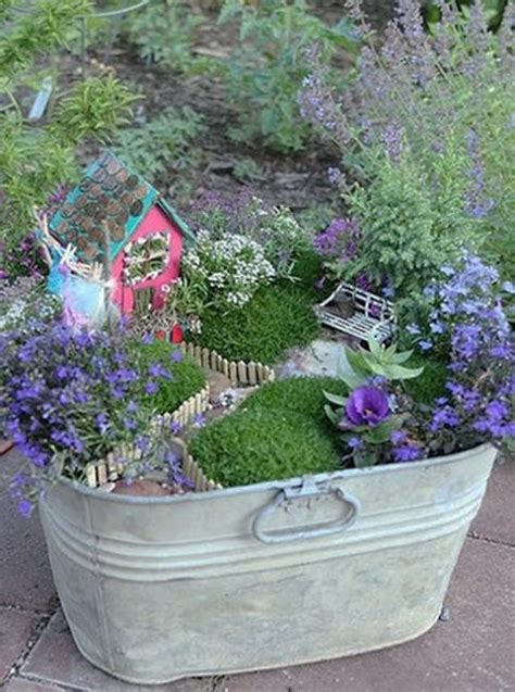 How To Recycle Recycled Miniature Fairy Garden Designs Mini Garden Ideas