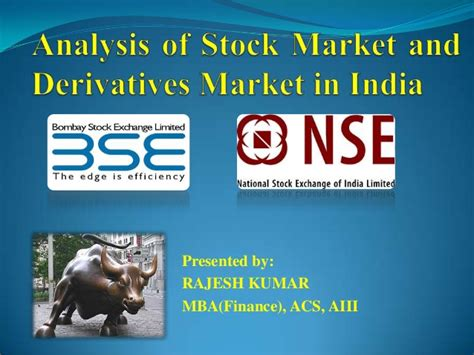 Mba In Stock Market In India by Stock And Derivatives Market In India