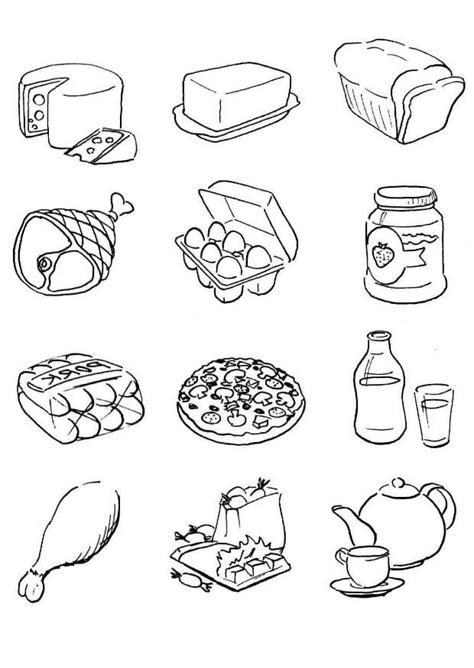 food coloring pages free printable food coloring pages for