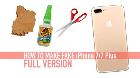 How To Assemble A Dummy How To Make Iphone 7 7 Version