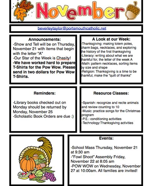 november newsletter template 19 preschool newsletters templates 9 classroom