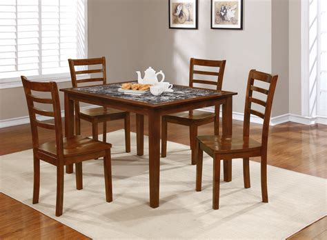 5pc faux marble dining table set essential home jackson 5pc faux marble dining set home