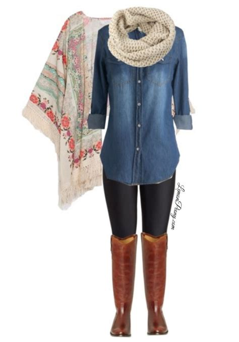 comfortable fall outfits comfortable casual outfit floral kimono denim shirt