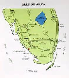 map of the everglades in florida raised in the south alphabe thursday quot e quot is for