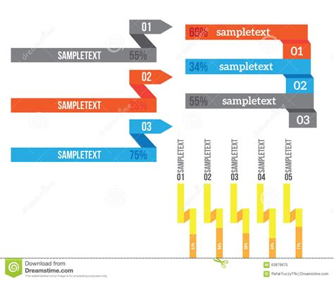 banner workflow vector infographic elements set stock vector image 63879675