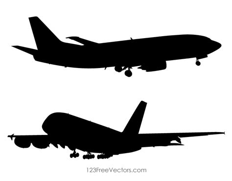airplane clipart airplane silhouette clip free vector