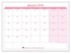 Kalender 2018 Januari Kalender Om Af Te Drukken Januari 2018 Generosa Belgi 235