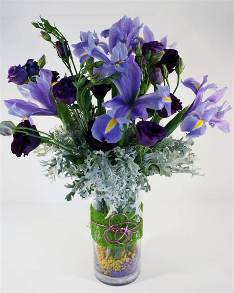 Vase Of Flower by Vase Of Purple Flowers