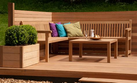 garden corner bench wooden sun lounger lisa cox garden designs blog