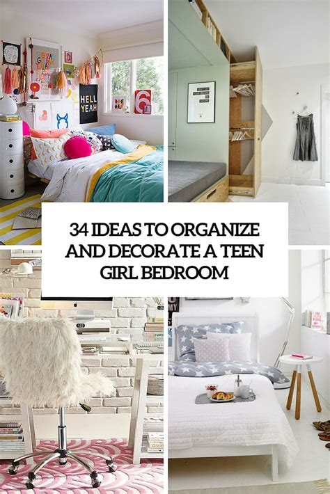 ideas  organize  decorate  teen girl bedroom