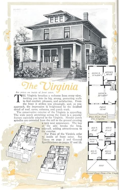 aladdin homes floor plans luxury sears bungalow plans and american foursquare aladdin virginia from the 1919
