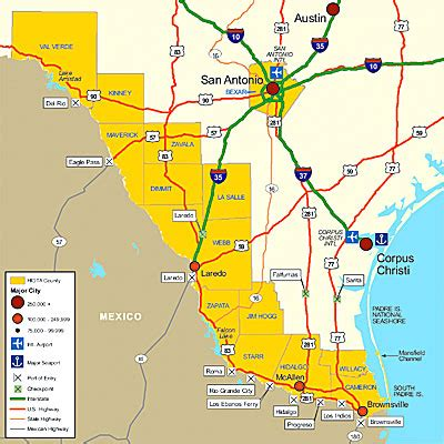 map of texas mexico border towns south texas border and san antonio market areas south texas hidta market analysis