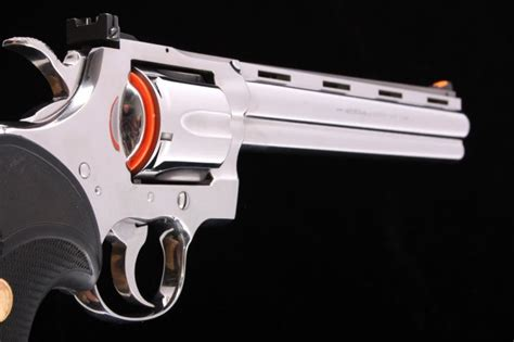 medallion rubber sts colt python bright stainless 8 quot revolver with box