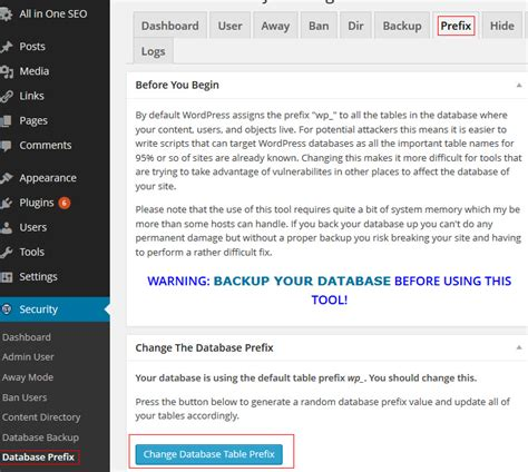 wordpress database layout plugins to change wordpress database prefix learn web
