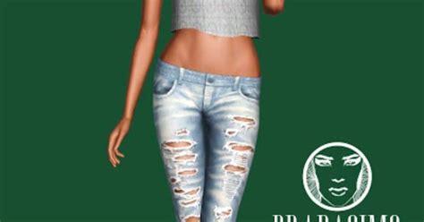 Celana Denim Pradaa Sleting zune set and t shirt at prada sims sims 3 finds sims 3 downloads sims
