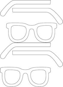 sunglasses template eye glasses template free printable prop photo