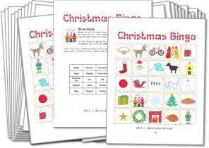 Christmas bingo with pictures christmas games for kids and family