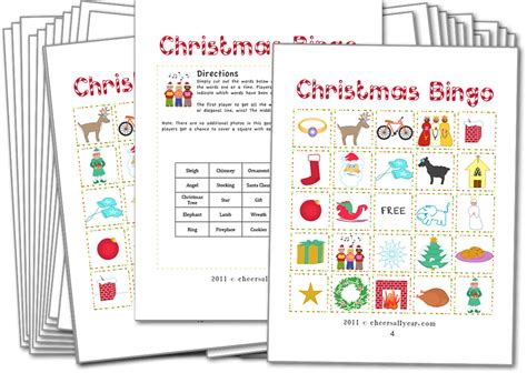 free printable christmas games church party christmas bingo with pictures christmas games for kids