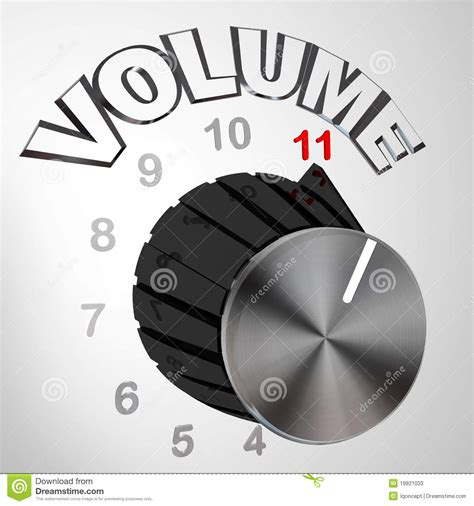 this one goes to 11 volume knob stock illustration
