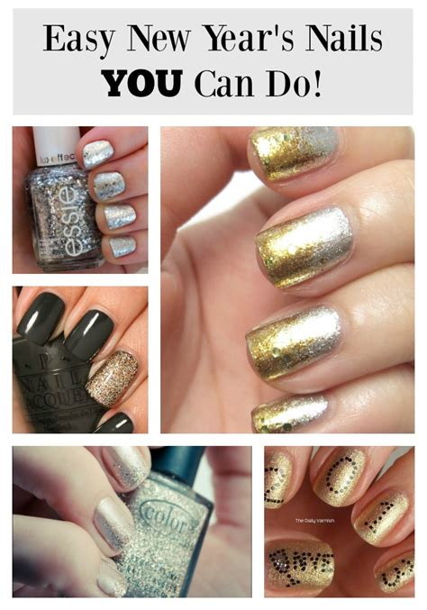 easy new year nail easy new year s nails you can do