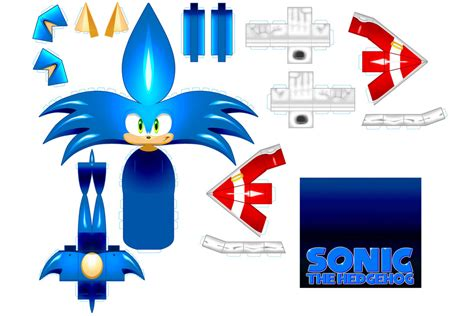 sonic papercraft by cheetor182 on deviantart