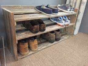 handmade reclaimed pallet wood shoe rack