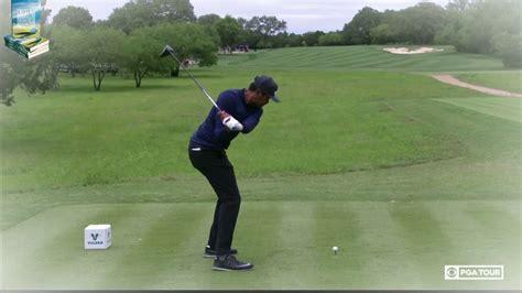 super slow motion golf swing tony finau golf swing super slow motion dtl down the line
