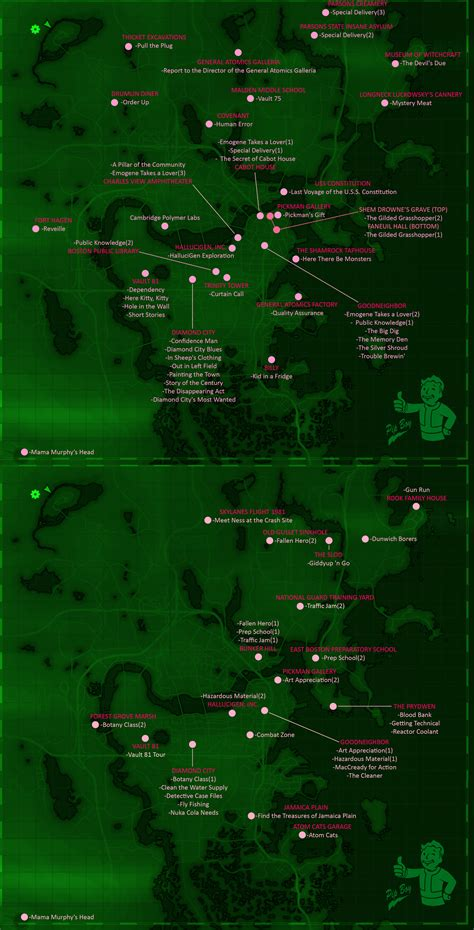 bobblehead quest fallout 4 fallout 4 misc quests map skillshotter