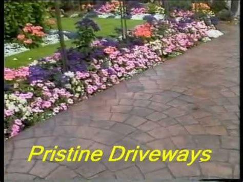 pattern imprinted concrete youtube pristine driveways pattern imprinted concrete driveways