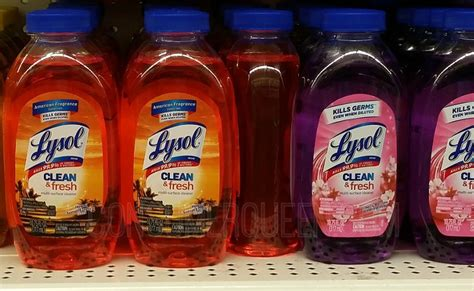 lysol cleaning products      dollar tree