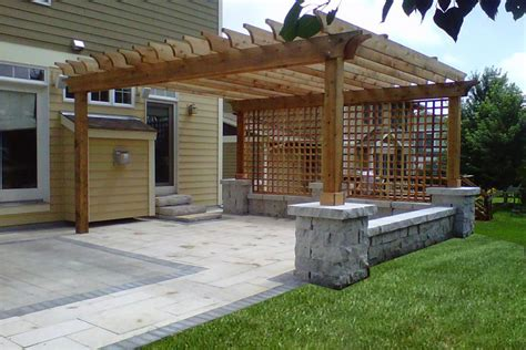 pergola designs attached to house the home design
