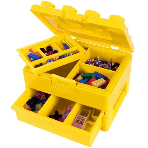 Lego Brick Now Carries Data by Lego Brick Storage Carry With Fold Out Handle Box