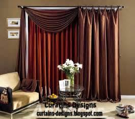 modern curtain designs brown silk curtain with modern curtain scarf design