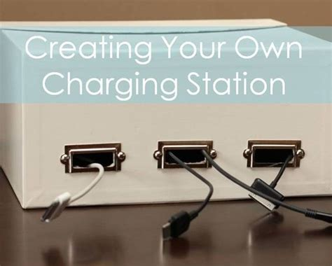 create a charging station creating your own charging station diy stuff pinterest