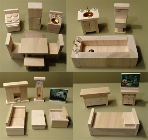 wooden dollhouse furniture hand crafted   upperairs