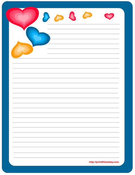stationery template free printable stationery paper free printable
