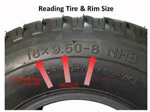 Truck Tire Size Nomenclature Lawnmower Tires How To Read The Numbers On The Sidewall