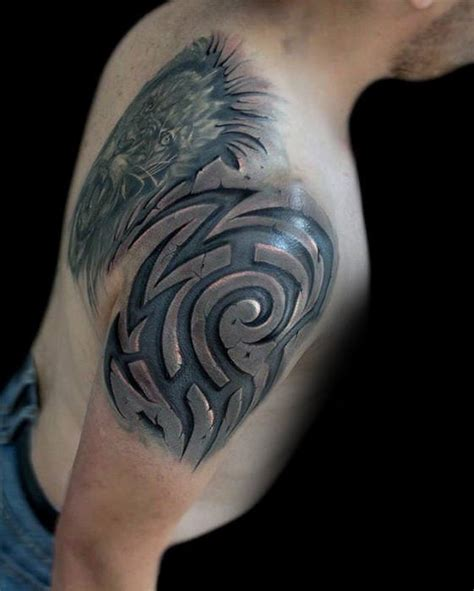 tribal 3d tattoo 60 3d tribal tattoos for masculine design ideas